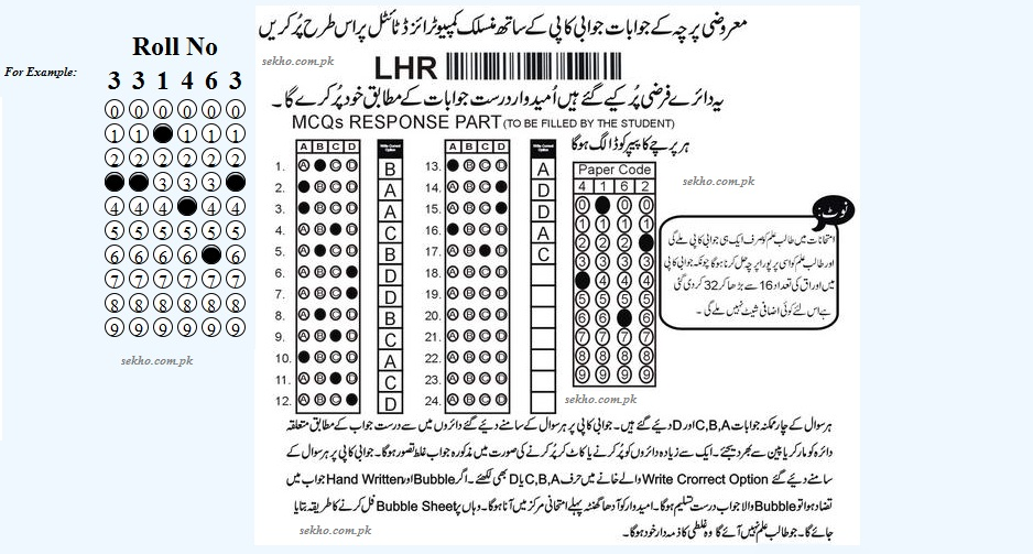 BISE Lahore Board to send Roll Number Slips Via SMS