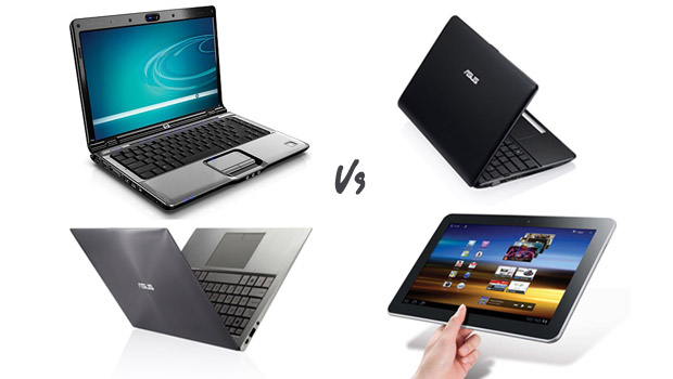 Difference Between Laptop and Notebook and Netbook and Tablet