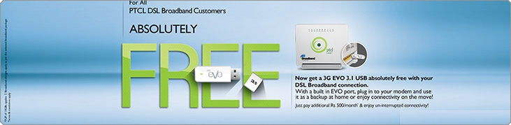 PTCL Free Evo USB Offer 2014