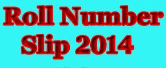 Gujranwala board 1st, 2nd Year roll no Slips 2014 download