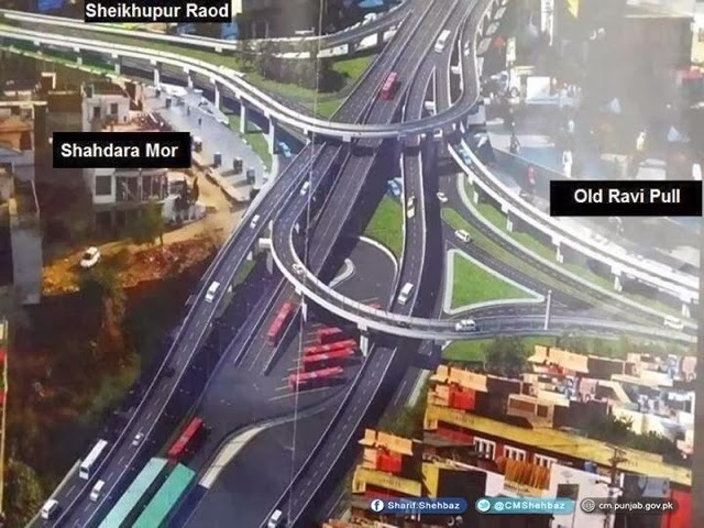 Lahore Azadi Chowk Project Pictures 2014
