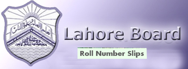 BISE Lahore Board Matric 9th, 10th Class Roll Number Slips 2017 Download