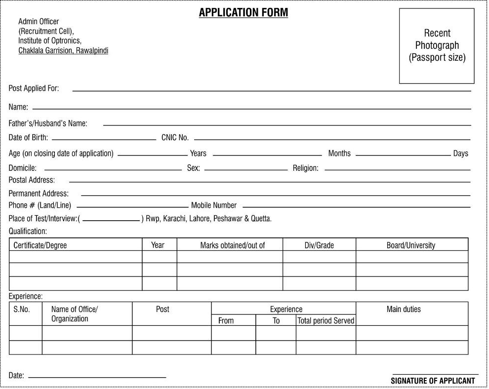 Government Application Forms For Jobs Gallery Free Form Design