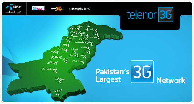 Telenor 3G Daily, Weekly, Monthly 3 Day Internet Packages