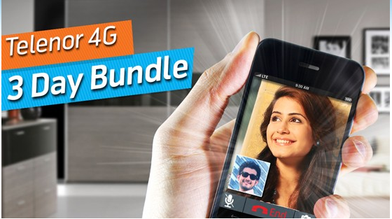 Telenor 4G 3 Day Bundle Offer 2017 In 35 Rs Code