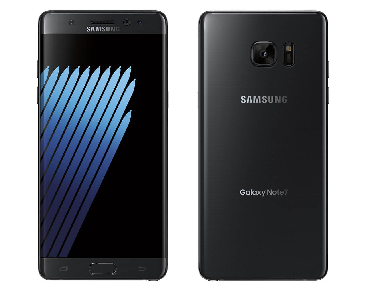 Samsung Galaxy Note 7 Black Onyxe Color Picture