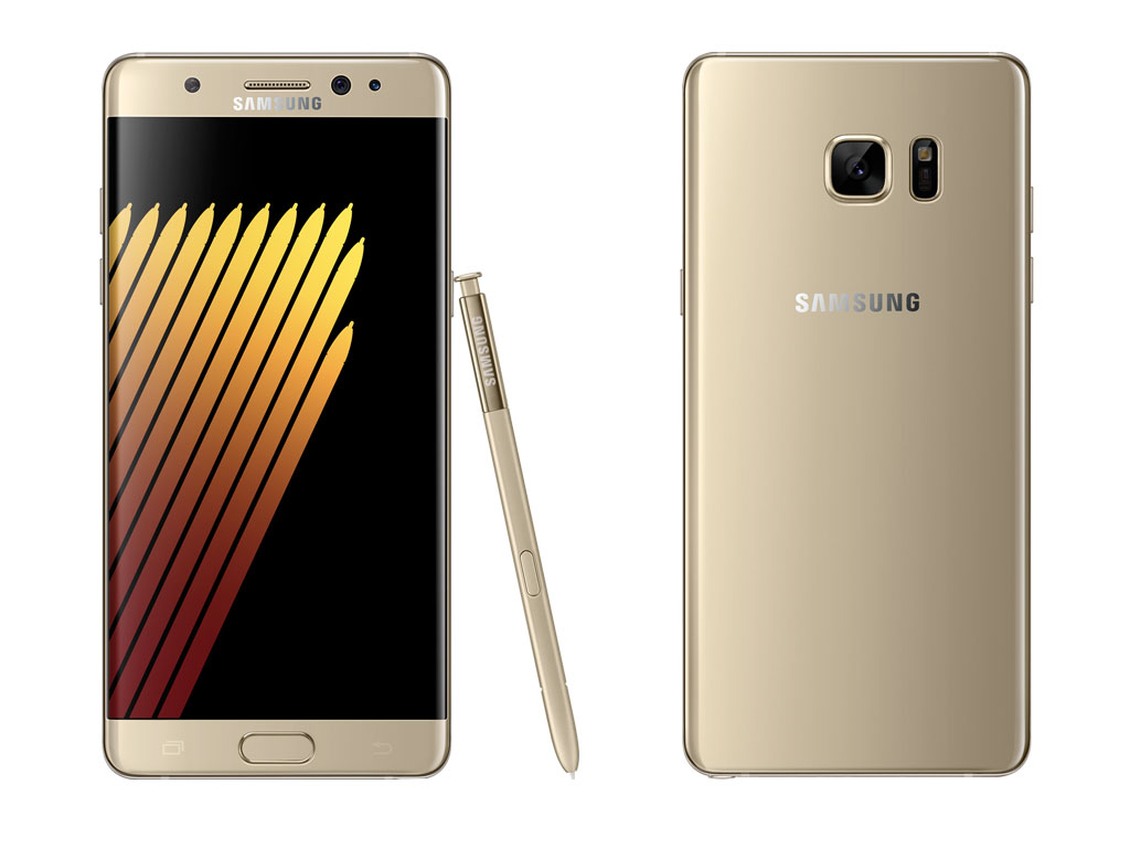 Samsung Galaxy Note 7 Gold Platinum Color Pictures