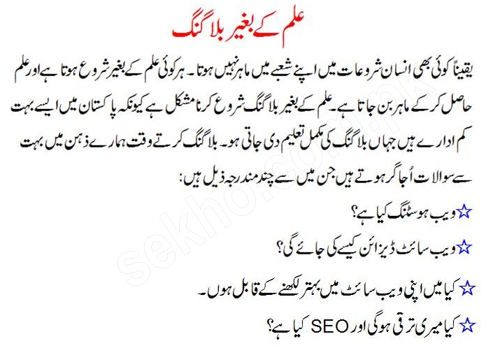 how to choose tough Blogger career in Pakistan..