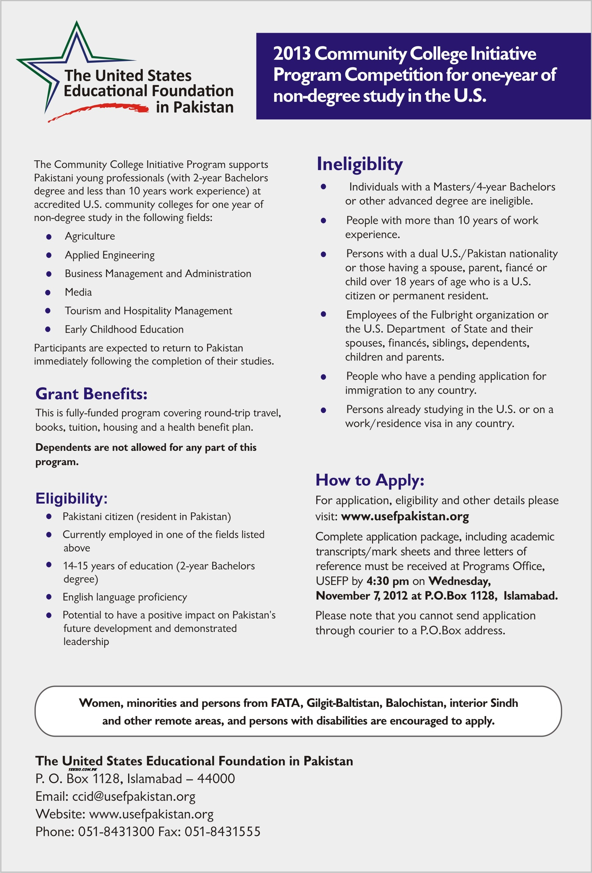 2013 Community College Initiative Program Competition