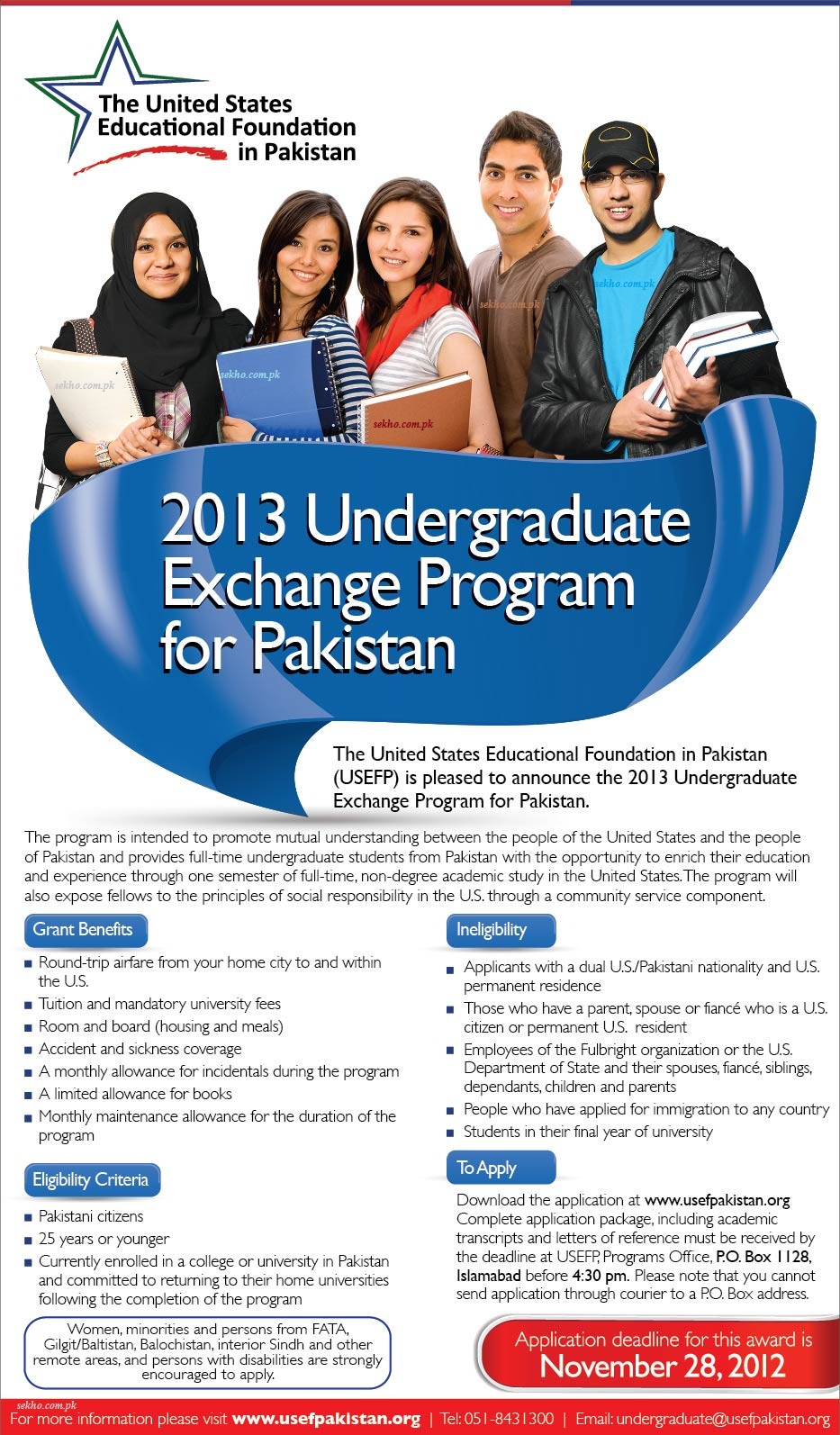 2013 Undergraduate Exchange Program for Pakistan
