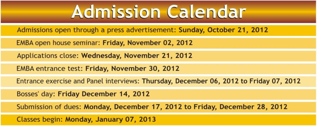 GC University Lahore Executive MBA Admissions 2012 1