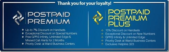 Warid Loyal Postpaid Customers Special Rewards
