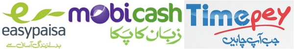 timepay, mobi cash, easy paisa service charges Rates