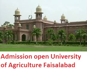 University of Agriculture Faisalabad UAF Spring admission 2014