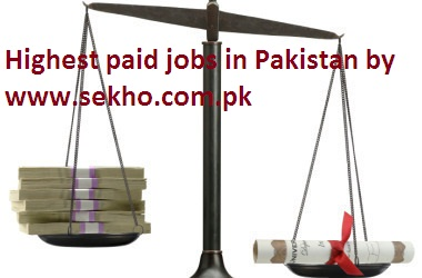 Highest paid jobs in Pakistan
