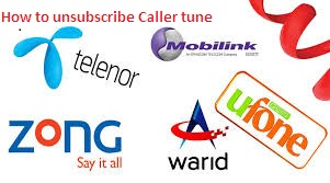 How to Unsubscribe Warid, Ufone, Telenor, Zong, Mobilink Caller Tunes