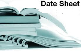 Sargodha Board 9th, 10th Class Date Sheet 2018