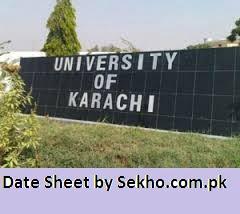 karachi university b.a BSC part 1, 2 date sheet 2021