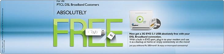 PTCL Free Evo USB Offer 2014
