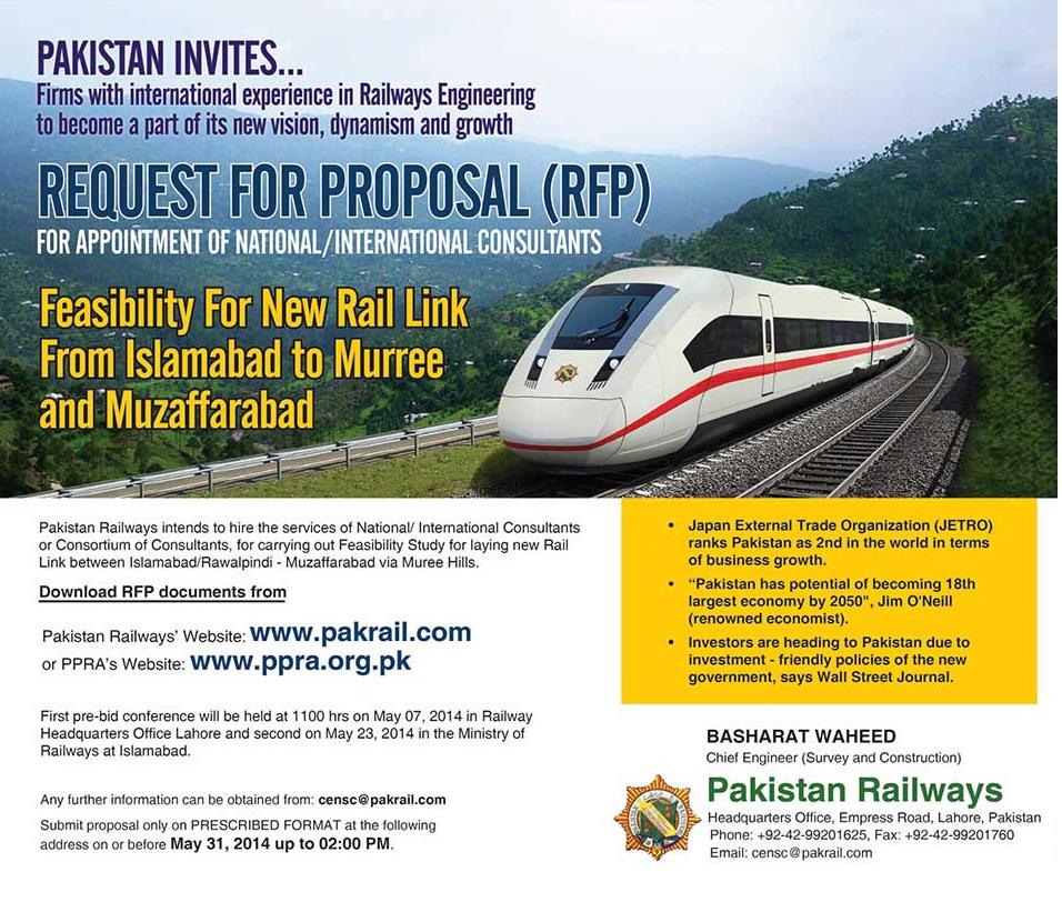 Rail Service Islamabad to Murree and Muzaffarabad Route Map Details