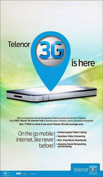 Telenor 3G Package Coverage Areas and How To Use Trial Free 3G