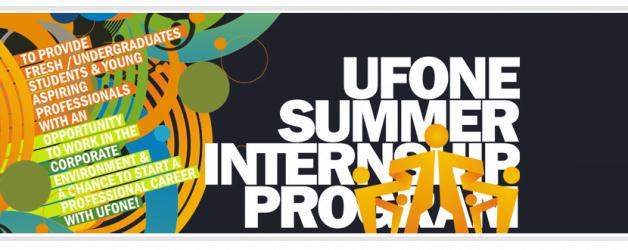 ufone Summer Internship Program 2017 Apply Online Results