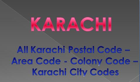Karachi Zip Postal Code List