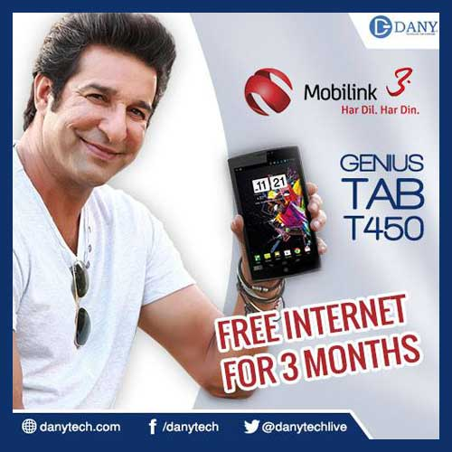 Mobilink 3G Bundle Offer With Dany Tab T450