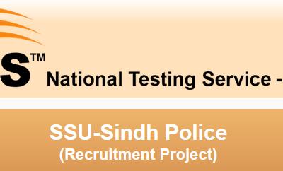 NTS SSU Sindh Police Test Date 2015 List of Candidates
