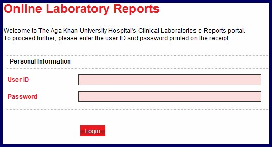 Aga khan hospital online reports