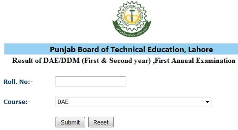 PBTE Lahore DAE 1st, 2nd, 3rd Year Result 2021