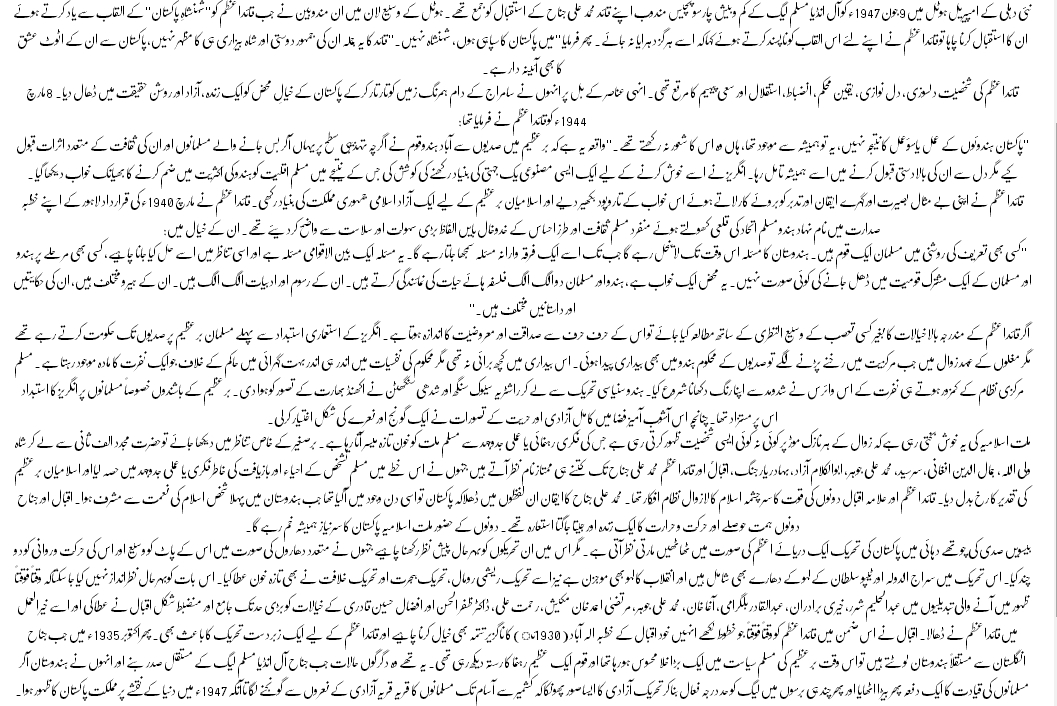 essays on urdu