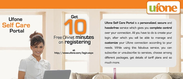 Ufone Self Care Center For Call History And Apps
