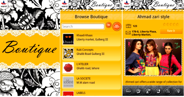 Warid Boutique App For Ladies Online Shopping