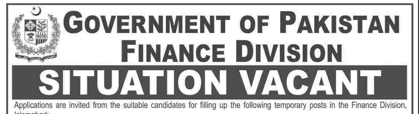 Govt Of Pakistan Finance Division Islamabad Jobs 2015 ApplicatiGovt Of Pakistan Finance Division Islamabad Jobs 2015 Application Form Last Date