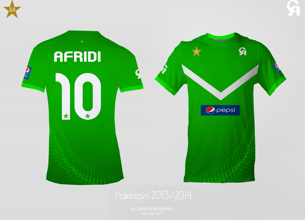ICC World Cup 2015 Pakistan Cricket Team Kit Color, Jersey Pictures 01