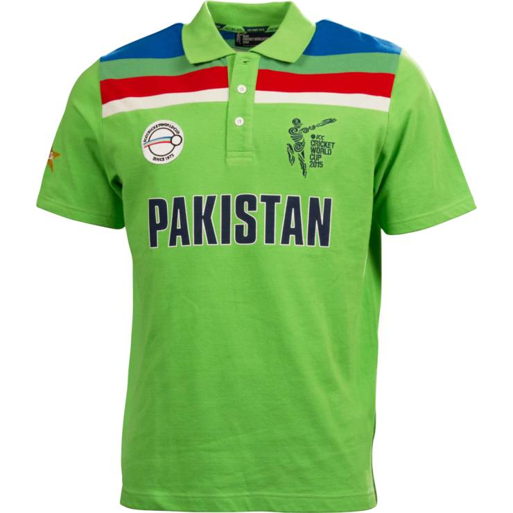 ICC World Cup 2015 Pakistan Cricket Team Kit Color, Jersey Pictures