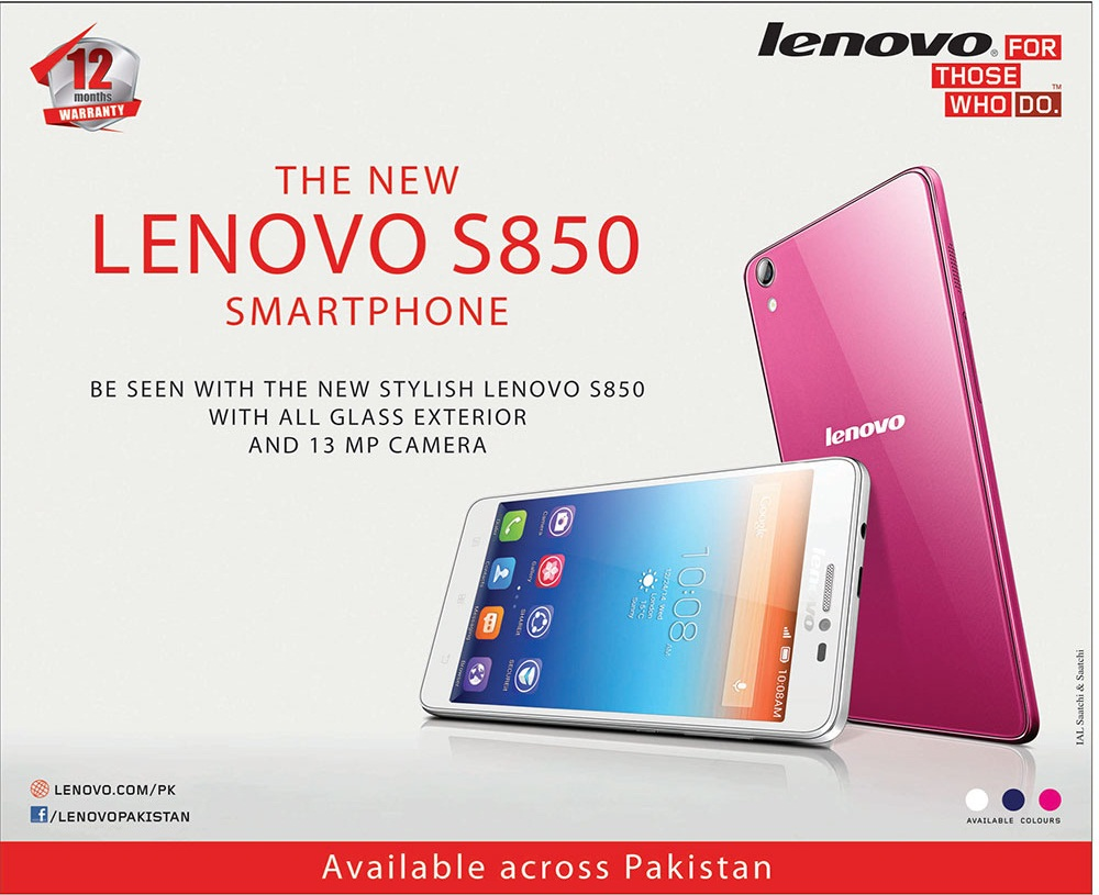 Lenovo S850 Smartphone Price In Pakistan, Specification, Pictures