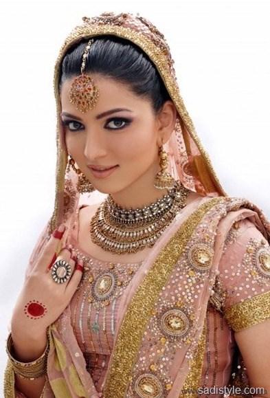 Pakistani Bridal Walima Makeup, hairstyle, dress collection