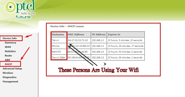 Check Who Is Using My Wifi PTCL Internet