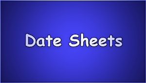 Gujranwala Board Matric 9th ,10th Class Date Sheet 2021
