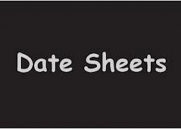 Lahore Board FA / FSC Date Sheet 2019