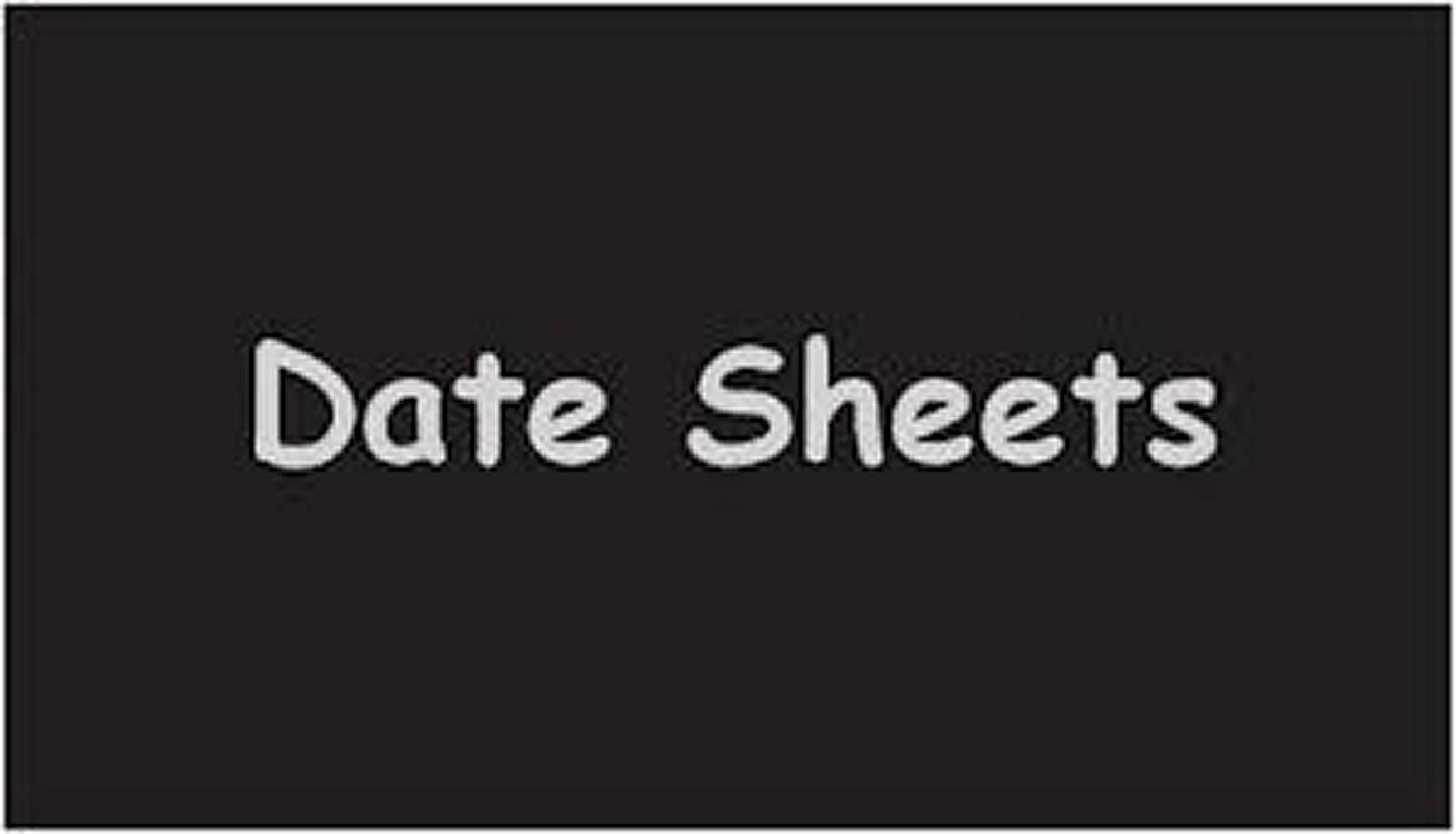 Lahore Board FA , FSC Date Sheet 2018