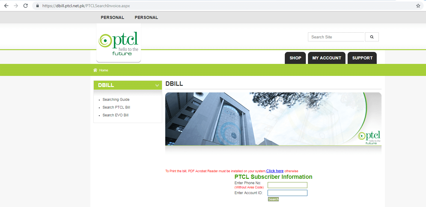 PTCL Bill Payment Online Step By Step Guide