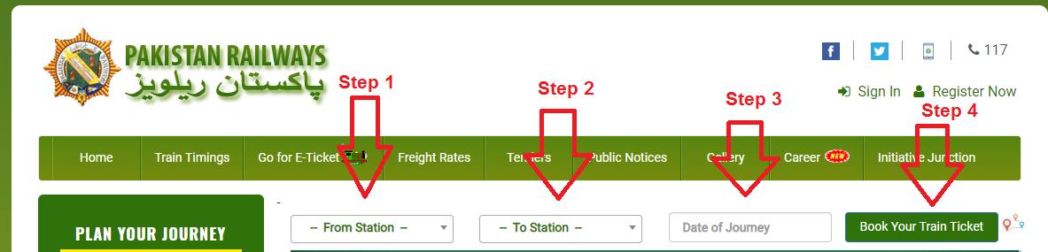 Pakistan Railway Online Booking Seats 2021 Lahore, Karachi, Peshawar
