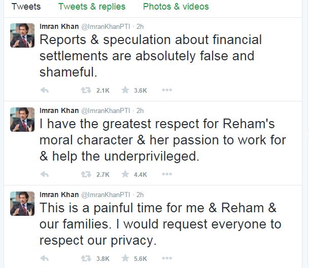 Imran Khan Twitter