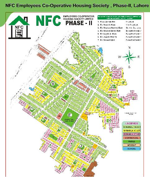 NFC Phase 2 Lahore Location Map