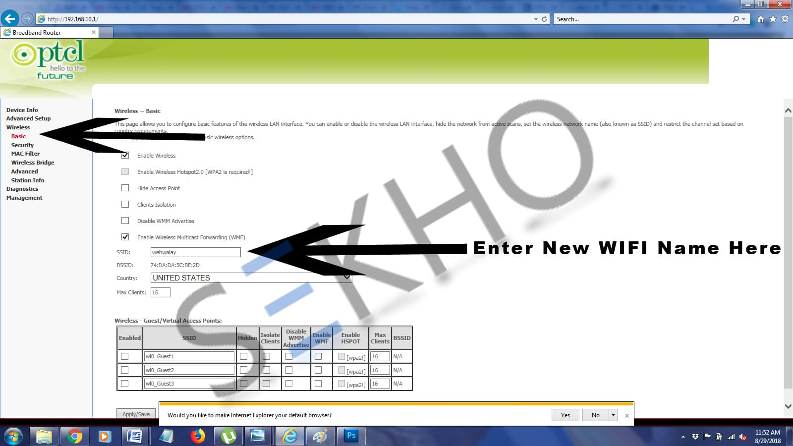 How to Change PTCL WIFI Password 6
