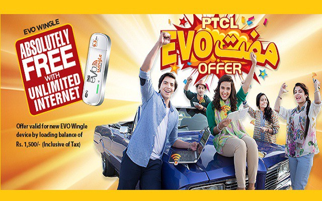 PTCL EVO Wingle Muft offer 2016