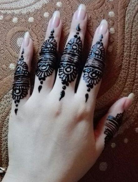 Eid Mehndi Designs 2021 For Fingers